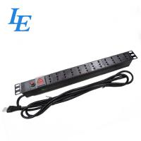 Quality Italy Style Rack Mount Pdu , Rated Current 16A Rack Power Strip 2M Cable Length wholesale
