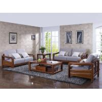 Cheap High end quality 1+2+3 Solid wood Leisure sofa set by Fabric and density sponge upholstered seat cushion for sale