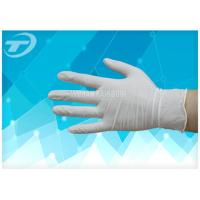 Quality Medical Disposable Gloves Latex Examination Glove , Powder And Powder Free wholesale