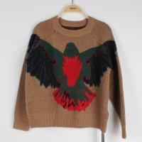Quality Anti-pilling Jacquard Sweaters For Young Ladies Knitted Eagle Pattern Loose Pullover wholesale