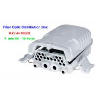 Buy cheap 16 ~ 96 Cores Fiber Optic Distribution Box 4 into SC 16 Ports Wall mounting from wholesalers