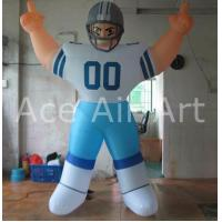 Quality Big 5m High NFL Inflatable Backbreaker Football Player for Advertising Custom Logo wholesale