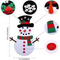 Quality Felt Christmas Snowman Ornaments For Wall Or Window , Christmas Party Crafts for Kids DIY Easily wholesale