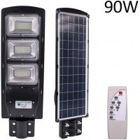 China PIR Commercial Solar Street Lights 90 Watt Remote Control Wall Timing Lamp on sale