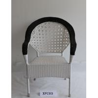 China White Outdoor Leisure Chair Plastic Weaving Rattan Chair on sale