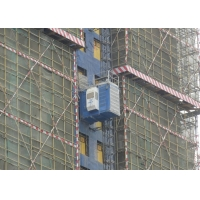 China Frequency Conversion Rack And Pinion Material Lift For Construction on sale