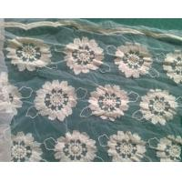 Quality Pure Cotton organza embroidered flower Lace Fabric Garment Eco Friendly wholesale