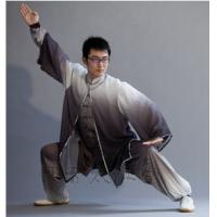 Quality partially dyed kungfu uniform with a shawl wholesale