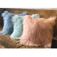 Quality 18 Inches Long Sheep Fur Decorative Pillows , Mongolian Fur Outdoor Throw Pillows  wholesale