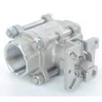 Small Stainless Steel 3 Piece Ball Valve CL150 - CL600 Pressure With ISO5211 Mounting Pad