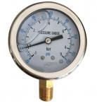 Quality Iron Alloy Marine Oil Filled Marine Industrial Pressure Gauge EN837-1 YN-100 wholesale