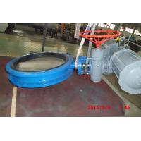 Quality Rubber Lined Butterfly Valve , CE TRCU Pneumatic Piston Wafer - Style Butterfly Valves  wholesale
