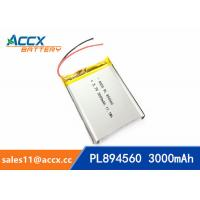 Cheap 894560 pl894560  3.7V 3000mAh battery supplier rechargeable battery for miner lamp for sale