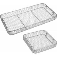 China Wire Mesh Surgical Instrument Sterilization Containers Tray For Washing / Sterilizing on sale