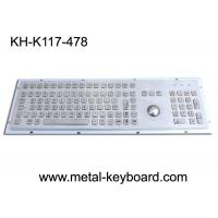 Quality Vandal - Resistance IP65 Industrial PC Keyboard with 25MM Metal Trackball wholesale