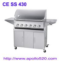 Quality 6Burner BBQ on Cart with side burner wholesale