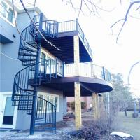 Quality Chinese wrought iron spiral stairs , outdoor spiral staircase prices , used spiral staircase wholesale