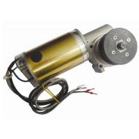 Quality CW And CCW Round Brushed DC Automatic Sliding Door Motor 24V DC Worm Gear Box Long shaft wholesale