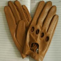 Quality men summer full finger sheepskin leather gloves for driver wholesale