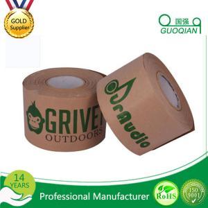 Cheap Writable Art Craft Kraft Paper Tape , brown kraft tape Printed Custom Logo for sale