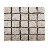 Quality Yellow Natural Paving Stones Cube Custom Surface Finishing 104hsd Hardness wholesale