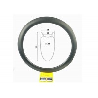 Buy cheap 463g 55mm Clincher Rim 20 24 Hole Tubeless Carbon Fiber Bicycle Rim 700C Road from wholesalers