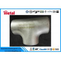 China Industrial Alloy Steel Pipe Fittings BW Equal Tee ASTM B366 Alloy B UNS N10001 on sale