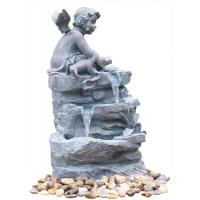 Quality Angel On Rock Waterfall Resin Garden Fountains with LED Light Anchor Falls Cascading wholesale