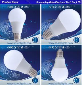 China high brightness aluminum e27 9w led light bulb at factory price on sale