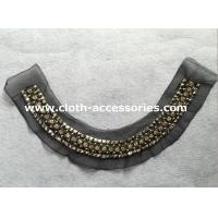 Cheap Diamond Big Arylic Beaded Collar Necklace With Round ABS Plated Beads for sale