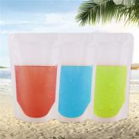 Quality Zipper Reusable Clear Drinking Beverage Bag / Transparent Plastic Bag For Cocktail wholesale