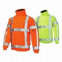 China Reflective Safety Jackets, High Visibility, Breathable, PU Coating, Wind- and Water-proof on sale