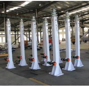 Cheap 8m manual winch telescopic mast/steel telescopic mast/ lighting telescopic mast for sale