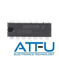 High Noise Immunity Programmable IC Chip / CD4069 CMOS IC With Six Inverter Circuits