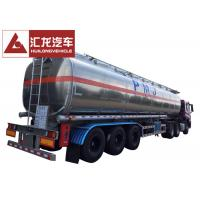 Quality 50000 L 5 Compartments Aluminum Fuel Tank Trailer Large Carrying Capacity wholesale