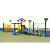 China Colorful Childrens Single Swing , Baby Swing And Slide Set Outdoor Slide Playground Equipment on sale