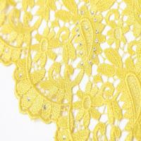 "F50264 customizable 51-52"" polyester dress making guipure embroidered lace fabric for sale"