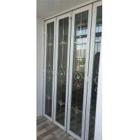 China 60 series folding doors retractable screen door bifold door aluminum folding door long life span provide many colors on sale