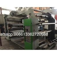Quality Self Adhesive Paper / Copper Plate Paper 6 Colour Flexo Printing Machine 70m/min wholesale
