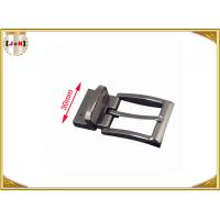 Quality 30mm Metal Gunmetal Buckle For Belt With Reversible Clip Safety Plating wholesale