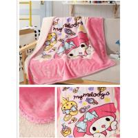 Double Ply Warm Sherpa Blankets Cartoon Printed For Baby / Children Skin Friendly