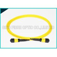 Cheap 3.0mm Low Insertion 24x Lanes MTP Female Fiber Optic OS2 Singlemode Trunk Yellow for sale