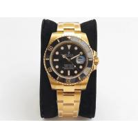 Buy cheap Rolex Submariner 116618 Full 18K Yellow Gold Wrapped Ceramic Bezel Black Dail from wholesalers