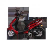 Quality White And Red Color Two Wheel Gas Moped Scooter 3.6 Nm / 7500 Rpm Torque wholesale
