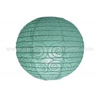 Quality Eyelet Lace Look  Round Paper Lanterns with lights For Party Decoration , Wedding wholesale