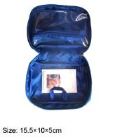 Quality Blue travel wash bag with zipped pocket inside , hanging cosmetic bag wholesale