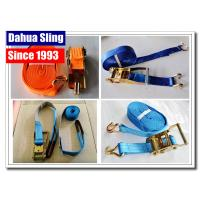 Quality PE Webbing Ratchet Strap Parts Cargo Lashing Straps With Hooks 50mm wholesale