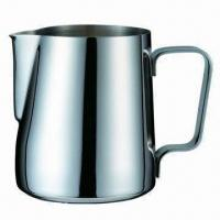 China 2,000mL Stainless Steel Milk Jug with Stainless Steel Handle, Mirror Polish on sale
