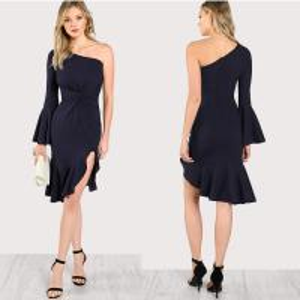 China summer one shoulder women fashion dress on sale