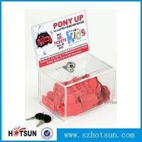Quality Acrylic Comment/Donation /Collection/Ballot Box with Brochure Pocket and Lock wholesale